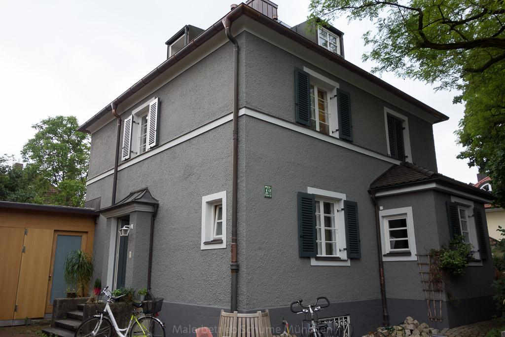 Fassaden Renovierung Einfamilienhaus Fassadenanstrich Munchen
